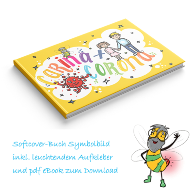 Kinderbuch Carina-und-Corona-E-Book mit Aufkleber